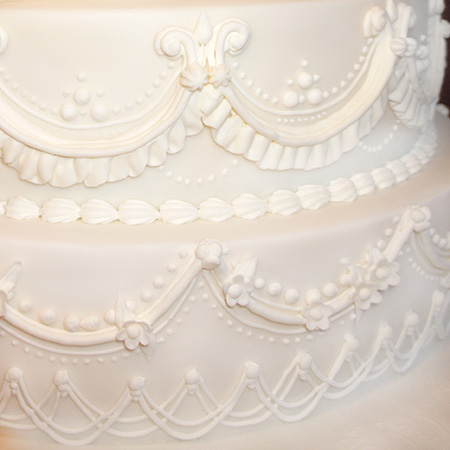 Piped Royal Icing Cake Made For An Indian Wedding