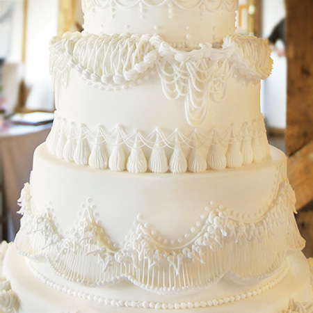 Royal Icing Cake Made For A Traditional Wedding