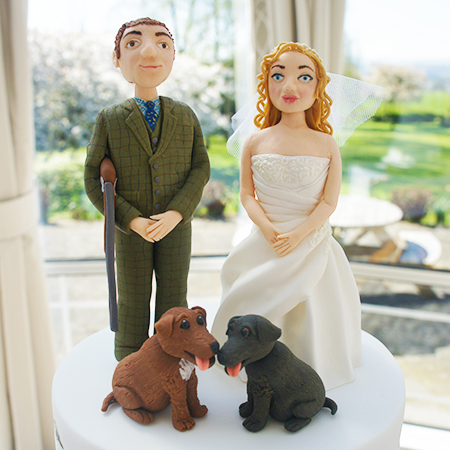 Shooting And Hunting Silhouette Wedding Cake