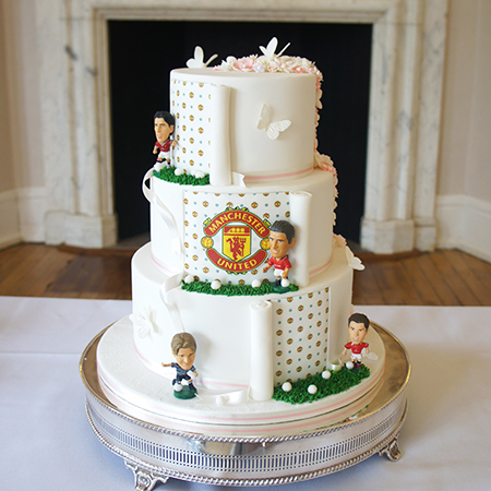 half and half football themed wedding cake cake maker newbury cake lace weddings