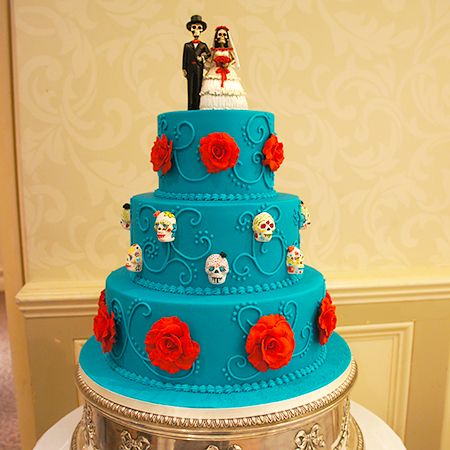 Day of the Dead Halloween Themed Wedding Cake | Cake Maker Newbury